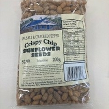 Sea Salt and Cracked Pepper Crispy Chip Covered Sunflower Seed