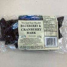 Dark Chocolate Blueberry and Cranberry Bark