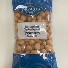 Bacon and Cheddar Crispy Potato Chip Covered Peanuts